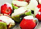 Grillowane truskawki i figi z kremem mascarpone