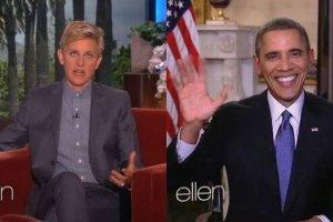 Ellen DeGeneres zadzwoni�a do Obamy. Zapyta�a, czy �cieli ��ko i zdrowo si� od�ywia, a on...