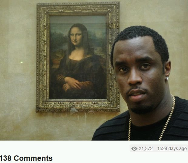 Sean Combs i Mona Lisa
