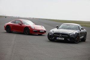 Mercedes-AMG GT S vs. Porsche 911 Carrera 4 GTS | Konfrontacja | Derby Stuttgartu