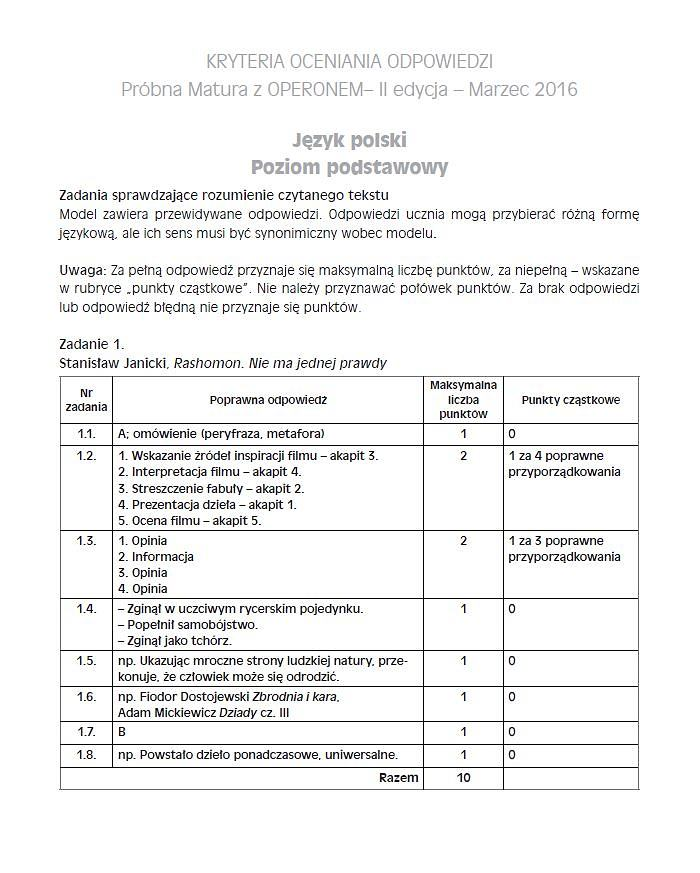 matura próbna operon 2021 polski