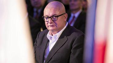 Michał Kamiński podczas prezentacji lokalnych kandydatow PO w wyborach do Parlamentu Europejskiego