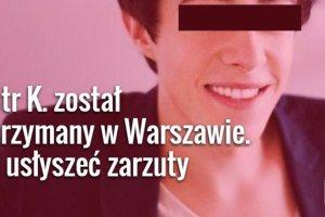 """Koniec kariery """"najm�odszego polskiego milionera?"""" Piotr K. zatrzymany. Us�yszy zarzuty"""