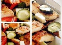 Szybka sałatka z panierowanym kurczakiem i kozim serem - ugotuj