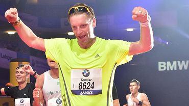 Tomasz Lis podczas tegorocznego maratonu we Frankfurcie 26.10.2014, czas: 03:07:06