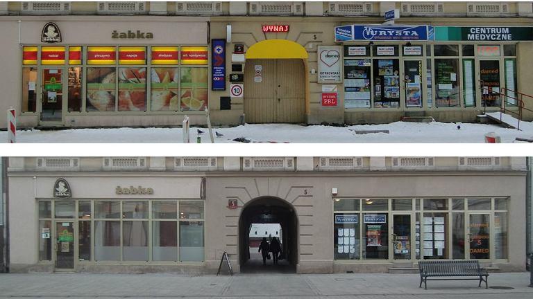 Ulica Piotrkowska w Łodzi przed i po wprowadzeniu nowych standardów