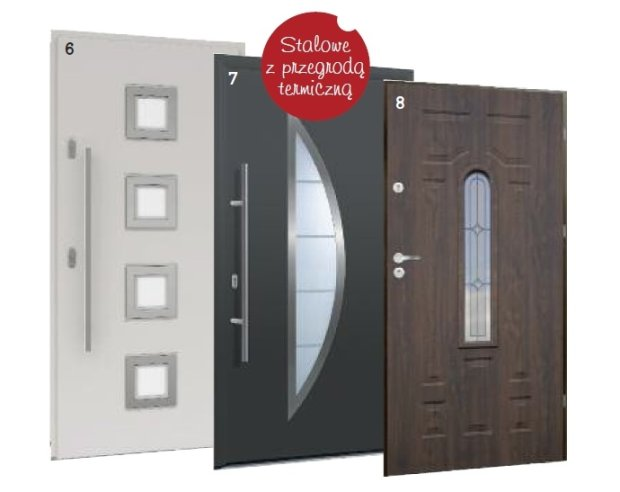 drzwi antywłamaniowe z przegrodą termiczną