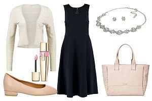 Granatowa sukienka na r�ne okazje - jedna sukienka i trzy stylizacje