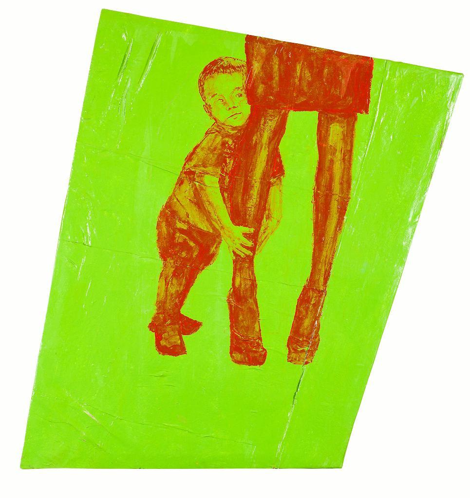 Laureat Grand Prix 43. Biennale Malarstwa Bielska Jesień 2017 -  Sebastian Krok z Warszawy. Na zdjęciu praca pt.  Mutter / JACEK ROJKOWSKI