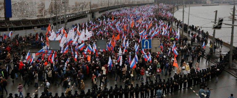 """Ukrai�ski pose� zatrzymany podczas marszu w Rosji. Powi�zali go ze spraw� """"masakry w Odessie"""""""