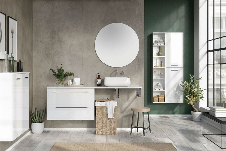 Umywalka w stylu skandynawskim