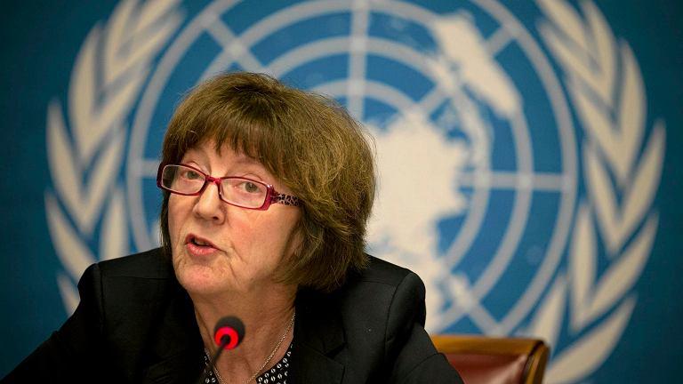 Kirsten Sandberg z Komitetu ONZ do spraw Praw Dziecka podczas konferencji ws. apelu dotyczącego pedofilii