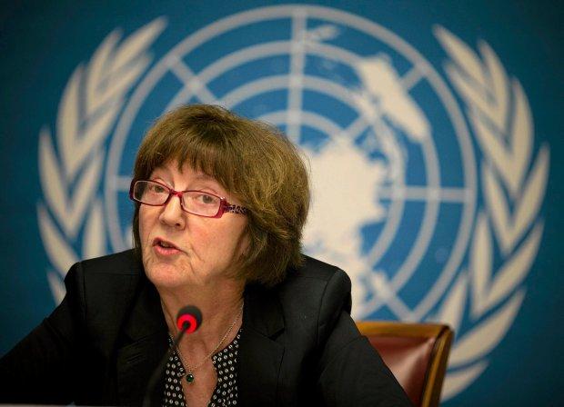 Kirsten Sandberg z Komitetu ONZ do spraw Praw Dziecka podczas konferencji ws. apelu dotycz�cego pedofilii