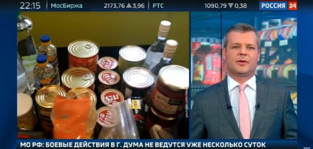 Rosyjska telewizja publiczna Rossija 24 straszy wojną z USA