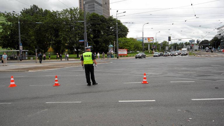 Do wypadku doszło na skrzyżowaniu Okopowej z al. Solidarności