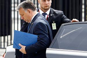 Premier Węgier Viktor Orban podczas szczytu NATO w Warszawie.