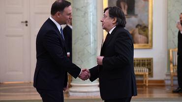 Prezydent Andrzej Duda powolal Marka Zirka Sadowskiego na prezesa Naczelnego Sadu Administracyjnego 17.02.2017