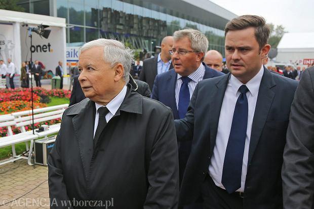 Jarosław Kaczyński i Adam Hofman podczas 24 Forum Ekonomicznego 3 września. Hofman najwyraźniej wrócił do łask prezesa