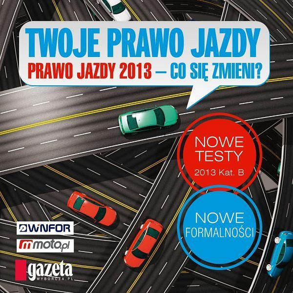 """Płyta CD """"Prawo jazdy 2013"""" i kodeks drogowy z """"Gazetą Wyborczą"""""""