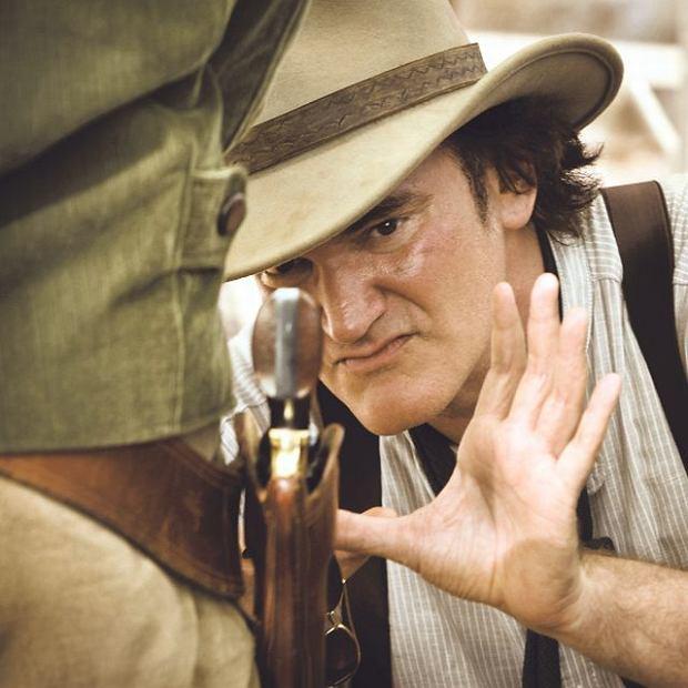 Quentin Tarantino na planie ''Django'' (2012)