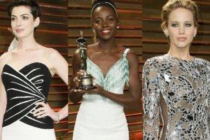Lupita Nyong'o, Jennifer Lawrence i Anne Hathaway
