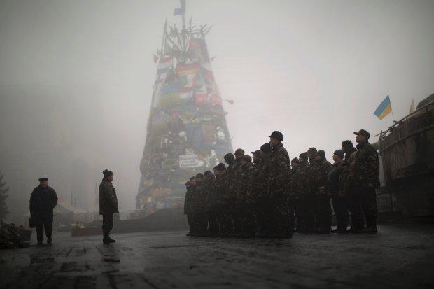 Ukraińscy rekruci na Majdanie
