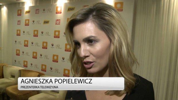 Agnieszka Popielewicz przyznała, że sylwester nie jest jej ulubioną imprezą. To, że będzie wtedy w pracy jest jej na rękę. Tak się złożyło, że w tym roku będzie towarzyszyć jej Grzegorz Hyży. Mąż prezenterki wystąpi na Sylwestrze Polsatu w Katowicach - tym samym, który poprowadzi Popielewicz.