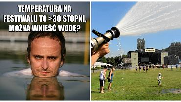 Internauci pieklą się o zakaz wnoszenia wody na teren imprezy