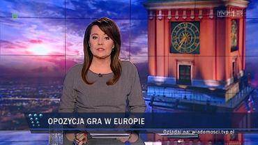 """Kadr z wyemitowanego 2 lutego wydania """"Wiadomości"""""""