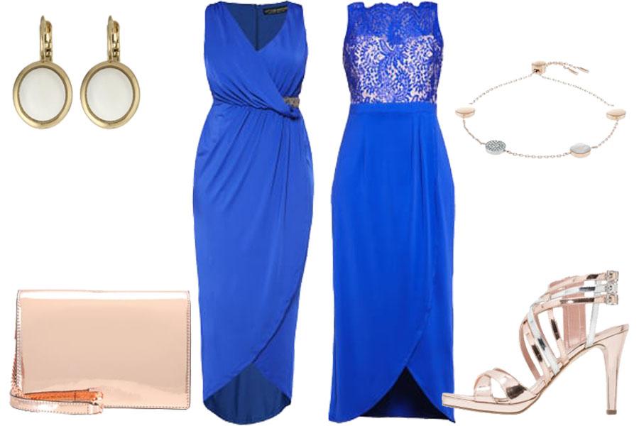 d324f78c0a Stylizacja z kobaltowymi sukienkami   Kolaż   Materiały partnera