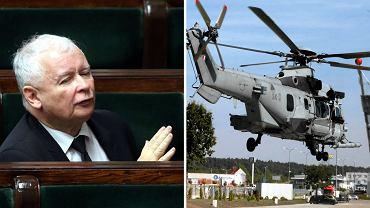 Proszę się nie niepokoić - apeluje prezes Jarosław Kaczyński i przekonuje, że rezygnacja z francuskich helikopterów wyjdzie Polsce na dobre