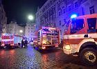 Dwie osoby zginęły w pożarze hotelu w centrum Pragi. Trzy kolejne trzeba było reanimować