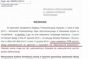 """Mam uzupe�ni� skarg� o 1779 jej po�wiadczonych odpis�w"". Mieszka�cy Micha�owic si� skar��: s�d utrudnia nam walk� o domy"