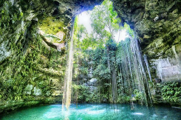 Cenote Ik kil: kąpiel w studni