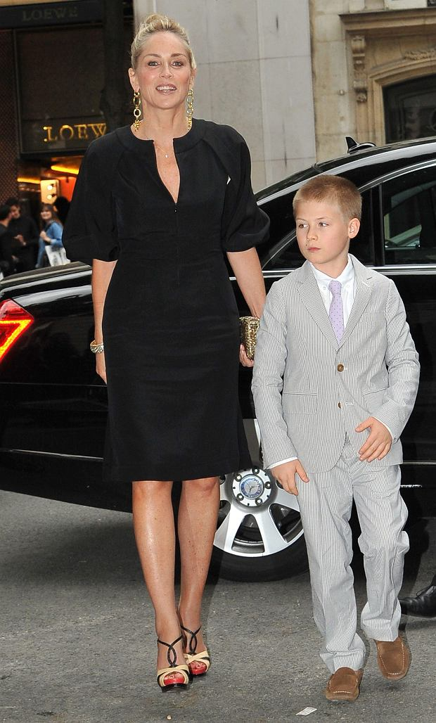 Photo of Sharon Stone & her Son  Roan Joseph Bronstein