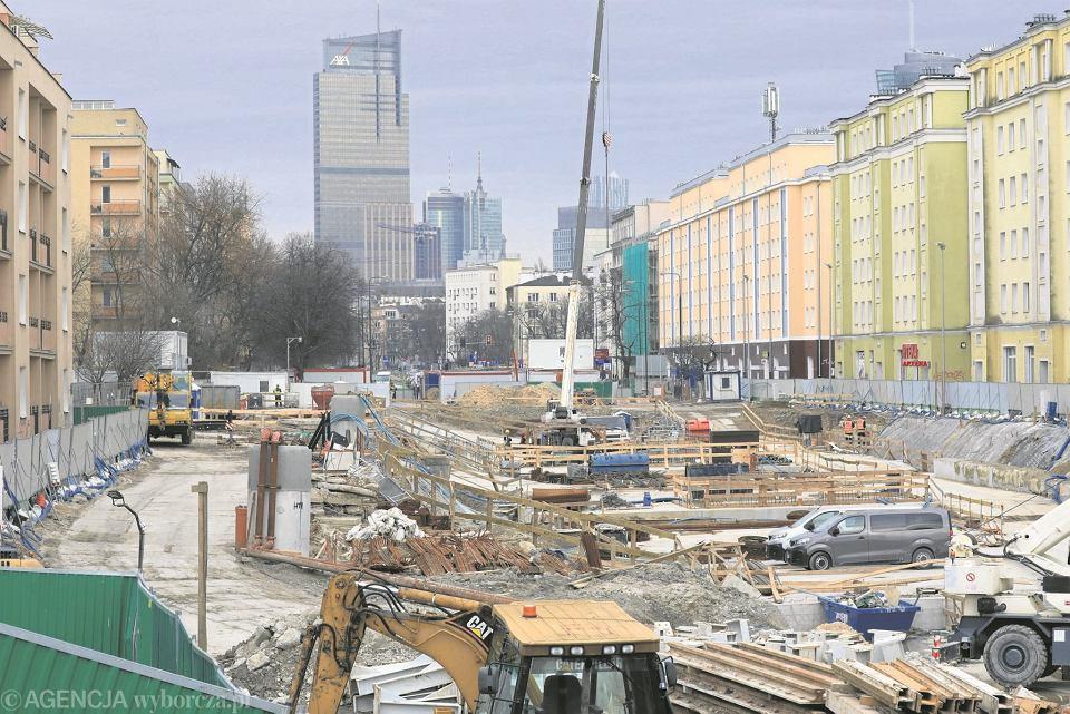 Ulica Górczewska, widok w kierunku centrum
