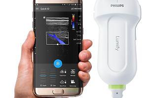 Przenośny ultrasonograf mieści się w kieszeni. Wystarczy podłączyć go do smartfona albo tabletu i wykonać badanie