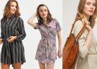 Sukienki koszulowe do 120 zł w modnych stylizacjach