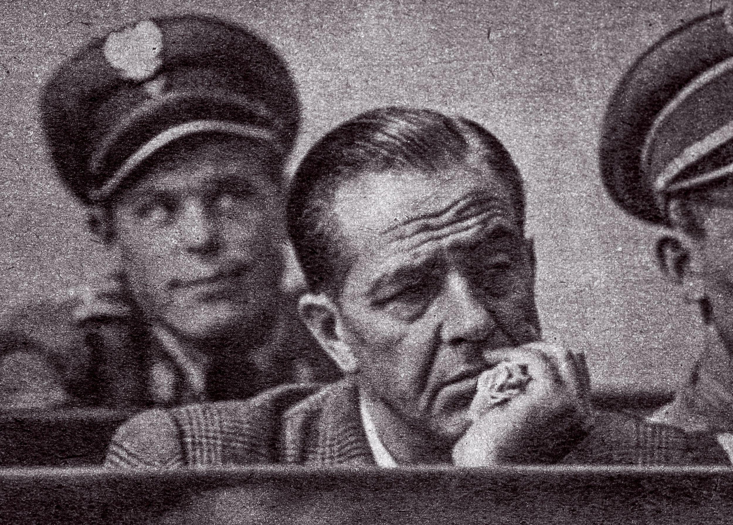 Władysław Mazurkiewicz na procesie, zdjęcie prasowe z 1956 roku (fot. zdjęcie archiwalne / Adam Tuchliński)