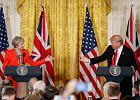 Donald Trump do Theresy May: Brexit będzie wspaniałą rzeczą