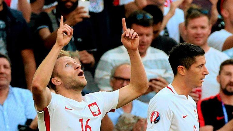 Jakub Błaszczykowski po strzeleniu gola podczas meczu Polska Ukraina w fazie grupowej Euro 2016