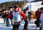 Happening KOD. Zjechali na nartach i rozwinęli przed Andrzejem Dudą transparent