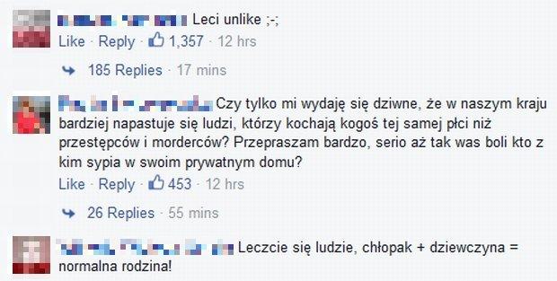 Komentarze na FB Zuzanna Borucka