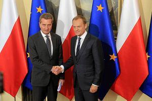 Europejska unia energetyczna bli�ej? Oettinger w Warszawie