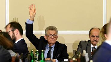 28.11.2017, obrady Komisji Sprawiedliwości i Praw Człowieka, na zdjęciu przewodniczący Stanisław Piotrowicz (PiS)