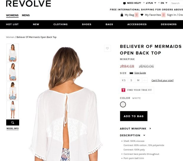 Biała bluzka, którą miała na sobie Nicole Scherzinger