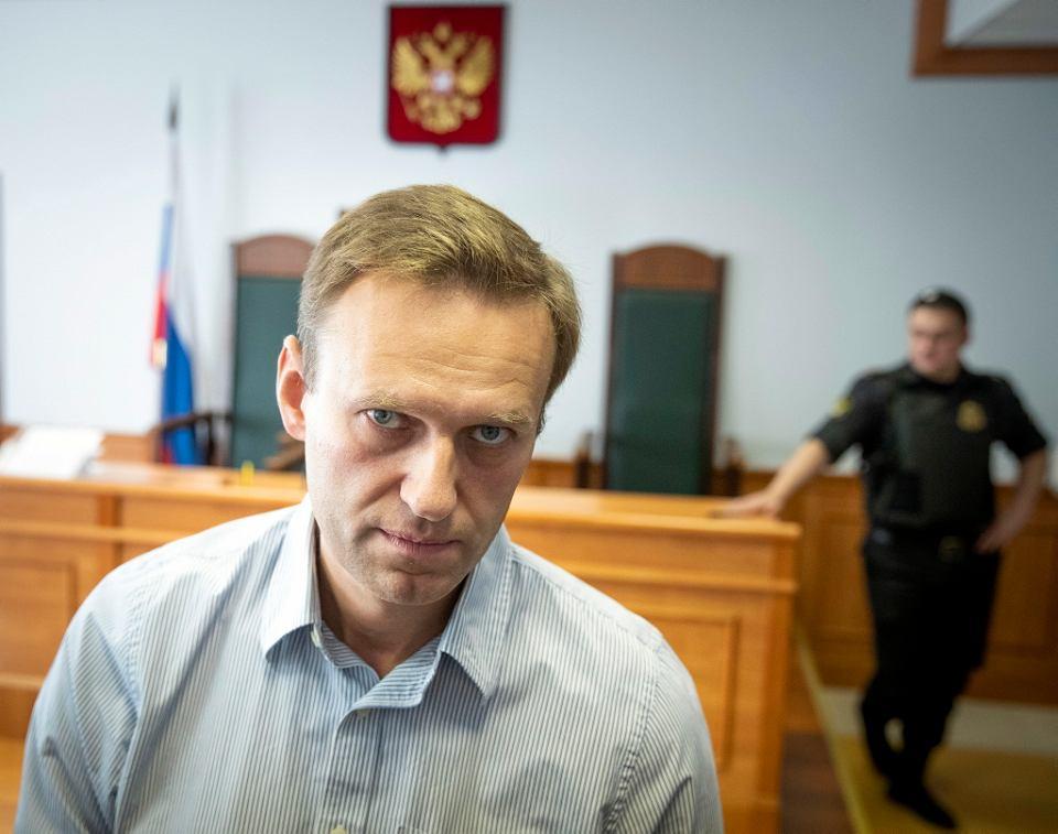 Aleksiej Nawalny przed moskiewskim sądem, 5 września 2018 r. Skazany na 30 dni aresztu nie może wziąć udziału w niedzielnych wyborach