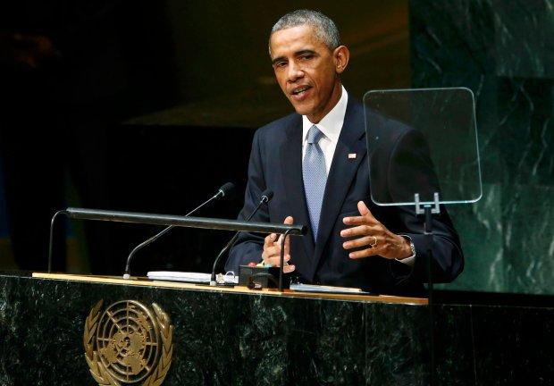 Prezydent USA Barack Obama podczas szczytu klimatycznego w Nowym Jorku