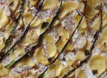 Pizza bianca z ziemniakami i kremowym serkiem z pesto i rukolą - ugotuj