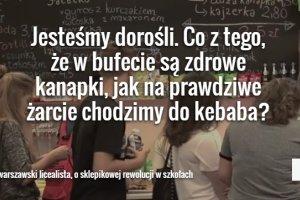 """Rewolucja w szkołach - sprawdzamy efekty. """"Jak na czarnym rynku. Snickersy chodzą po 10 zł"""""""